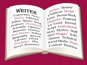 Writer Infographic poster