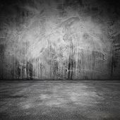 Abstract Grungy Interior With Concrete Floor And Wall poster