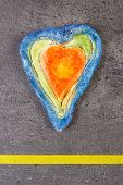 ������, ������: Valentine Heart Made Of Salt Dough And Ribbon Symbol Of Love