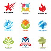 Постер, плакат: Logo vector set creative illustrations Logo collection Vector logo design