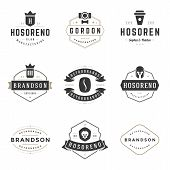 Постер, плакат: Vintage Logos Design Templates Set Vector design elements Logo Elements
