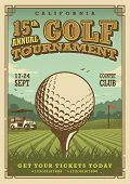 Постер, плакат: Vintage golf poster