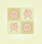 Sweet Welcome the New Baby Card