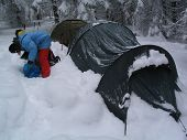 Tent In To The Snow