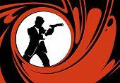 Постер, плакат: Secret agent or spy vector silhouette