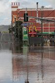 Brisbane, Australia - Jan 13 : Flood  Brisbane Milton Brewery Area Queensland Declared Natural Disat