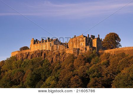 Stirling Castle In An Autumn