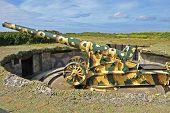 picture of emplacements  - Second world war gun  - JPG