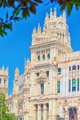Cibeles Center Or  Palace Of Communication, Culture And Citizenship Centre In The Cibeles Square Of poster