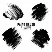 Vector Paint Brush Strokes Texture. poster