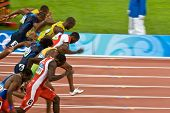 Olympic Athletes In Men's 100 Meter Sprint
