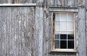 old window on house