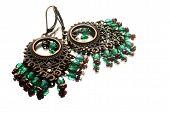 Handmade Earrings With Gemstones, Gypsi Style