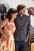 LOS ANGELES - JUL 10:  Zooey Deschanel; Ben Gibbard arriving at the