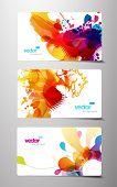 Постер, плакат: Набор абстрактных красочные splash подарочные карты