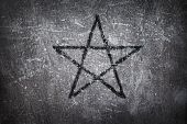 stock photo of pentacle  - pentacle on grunge background - 3d illustration