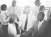 Group of Multiethnic Diverse Busy Business People poster