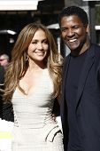 LOS ANGELES - NOV 30: Jennifer Lopez, Denzel Washington as Jennifer Lopez is the new national spokes