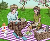 Couple Enjoying Picnic