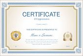 Certificate Or Diploma Retro Vintage Template 1.eps poster