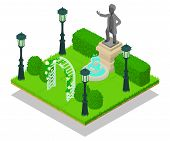 Memorial Concept Banner. Isometric Banner Of Memorial Vector Concept For Web, Giftcard And Postcard poster