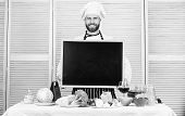 Cooking School Lesson. Master Cook Giving Cooking Class. Chief Cook Teaching Master Class In Cooking poster