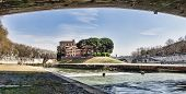 The Tiber Island In The Tiber River, Rome