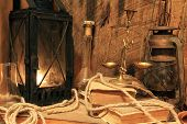 Old Lamps, Books And Balance