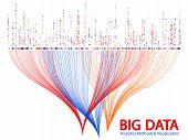 Big Data Statistical Methods Visualization Concept Vector Design. 0 And 1 Binary Matrix Data Visuali poster