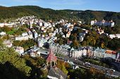 Panorama of Karlovy vary.Czech republic