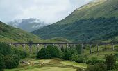 Glenfinnan Viaduct At Summer Time