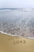 2012 And 2013 Written In Sand
