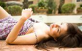 Beautiful Girl Laying Down