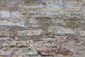 Brickwork, A Beautiful Wall. Interesting Stone Background. poster