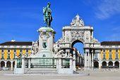 Praca Do Comercio (commerce Square) In Lisbon, Portugal