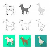 Vector Illustration Of Breeding And Kitchen Logo. Collection Of Breeding And Organic Vector Icon For poster