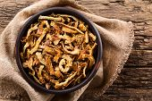 Fresh Homemade Crispy Fried Onion Strings In Rustic Bowl, Photographed Overhead (selective Focus, Fo poster