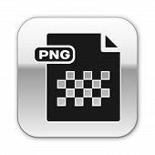 Black Png File Document. Download Png Button Icon Isolated On White Background. Png File Symbol. Sil poster