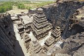 pic of ellora  - Ancient Hindu Temple  - JPG