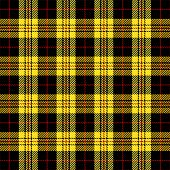 Tartan Plaid. Scottish Pattern In Black, Yellow And Red Cage. Scottish Cage. Traditional Scottish Ch poster