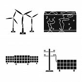 Isolated Object Of Climate And Alternative Symbol. Collection Of Climate And Nature Vector Icon For  poster
