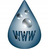 WWW Drop Design Element