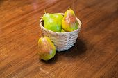 One Pear By Pears In Basket
