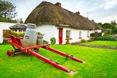 Irish traditional cottage houses in Adare village