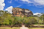 Sygiriya - ancient buddhistic landmark of Sri lanka poster