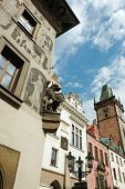 Old Gothic Prague City With Fanciful Architectural Details - Chimeras And Gargoyles