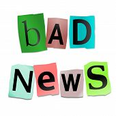 Bad News Concept.