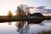 Dutch Farm House By Canal