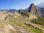 Panorama - Huayna Picchu Mountain Overlooking Machu Picchu