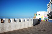 stock photo of asilah  - Moroccan architecture in Asilah Old Medina - JPG